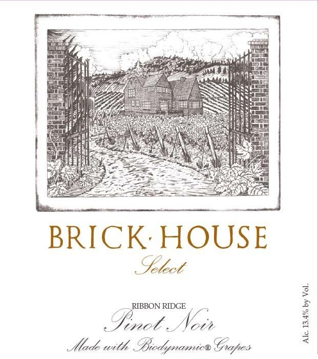 Brick House Select Pinot Noir 2017  Front Label