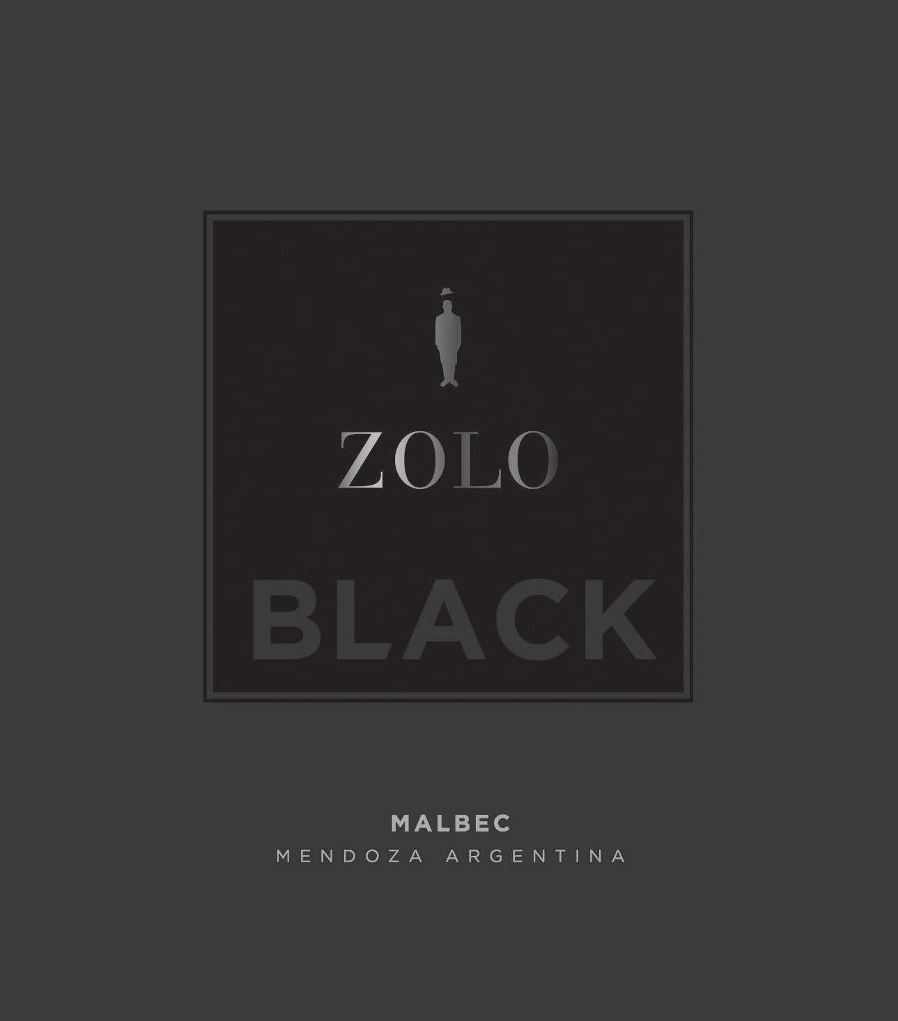 Zolo Black Malbec 2013 Front Label