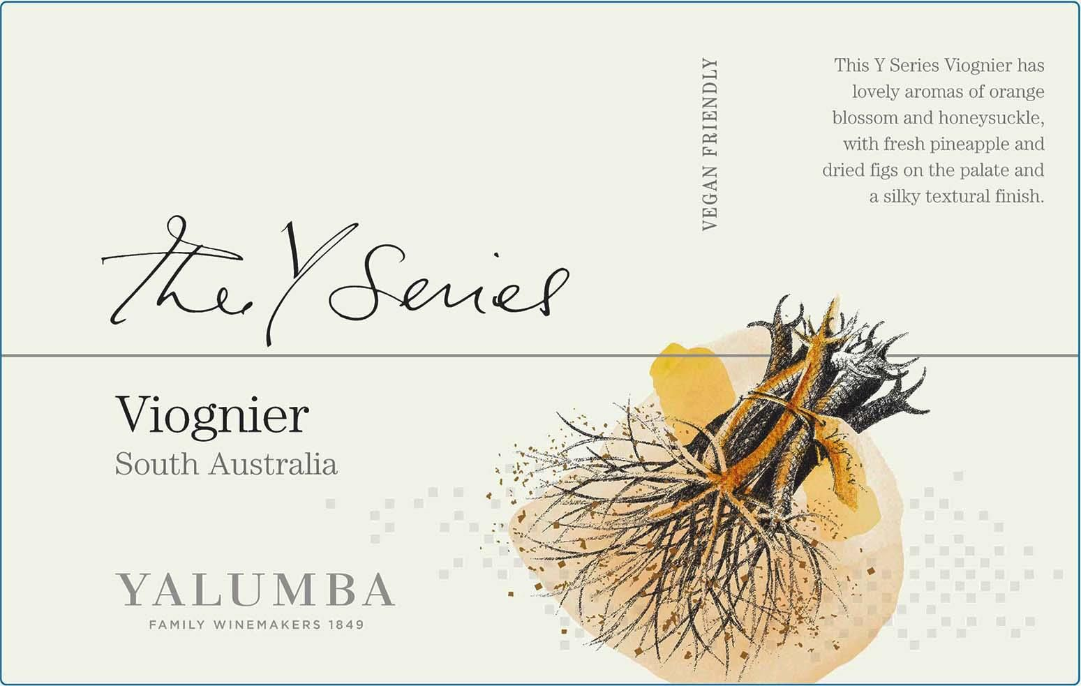 Yalumba Y Series Viognier 2020  Front Label