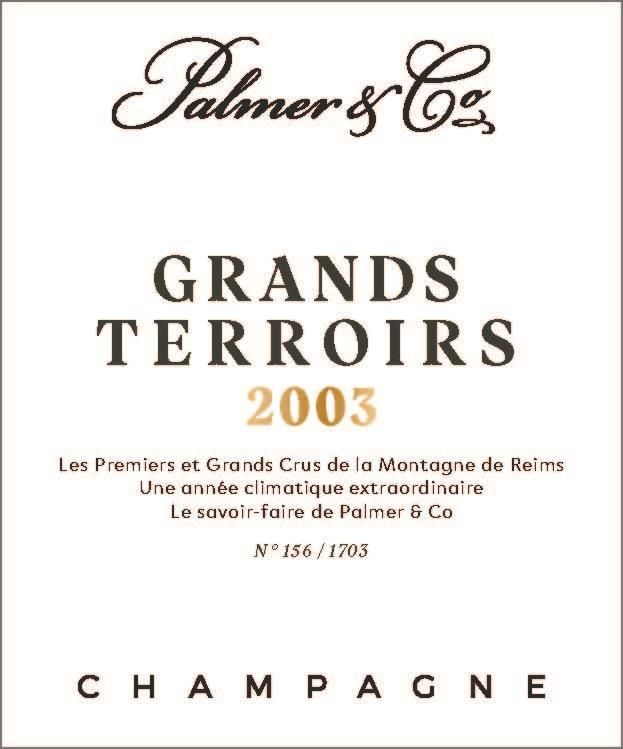 Champagne Palmer Grand Terroirs (1.5 Liter Magnum) 2003  Front Label