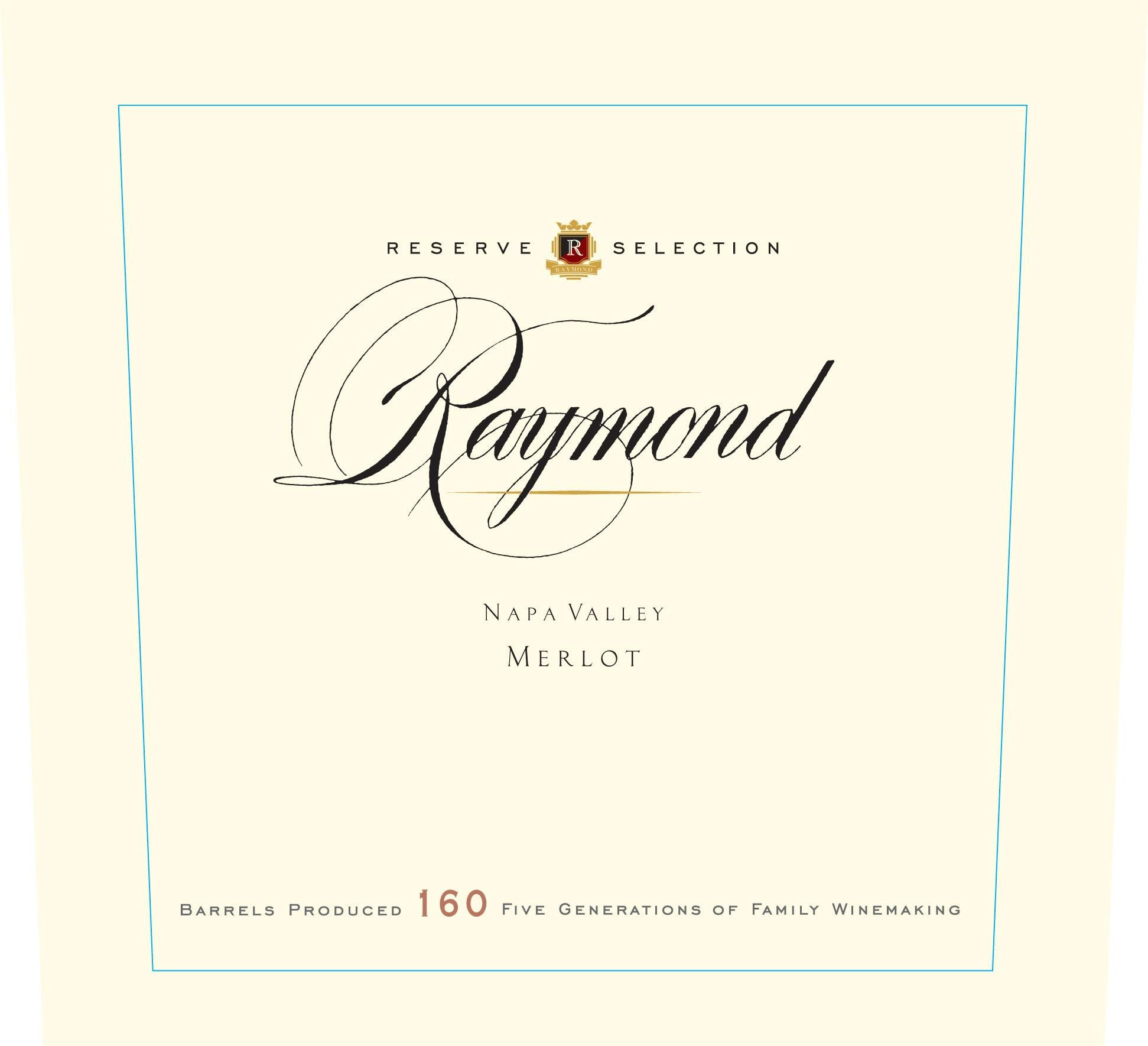 Raymond Reserve Selection Merlot 2015 Front Label