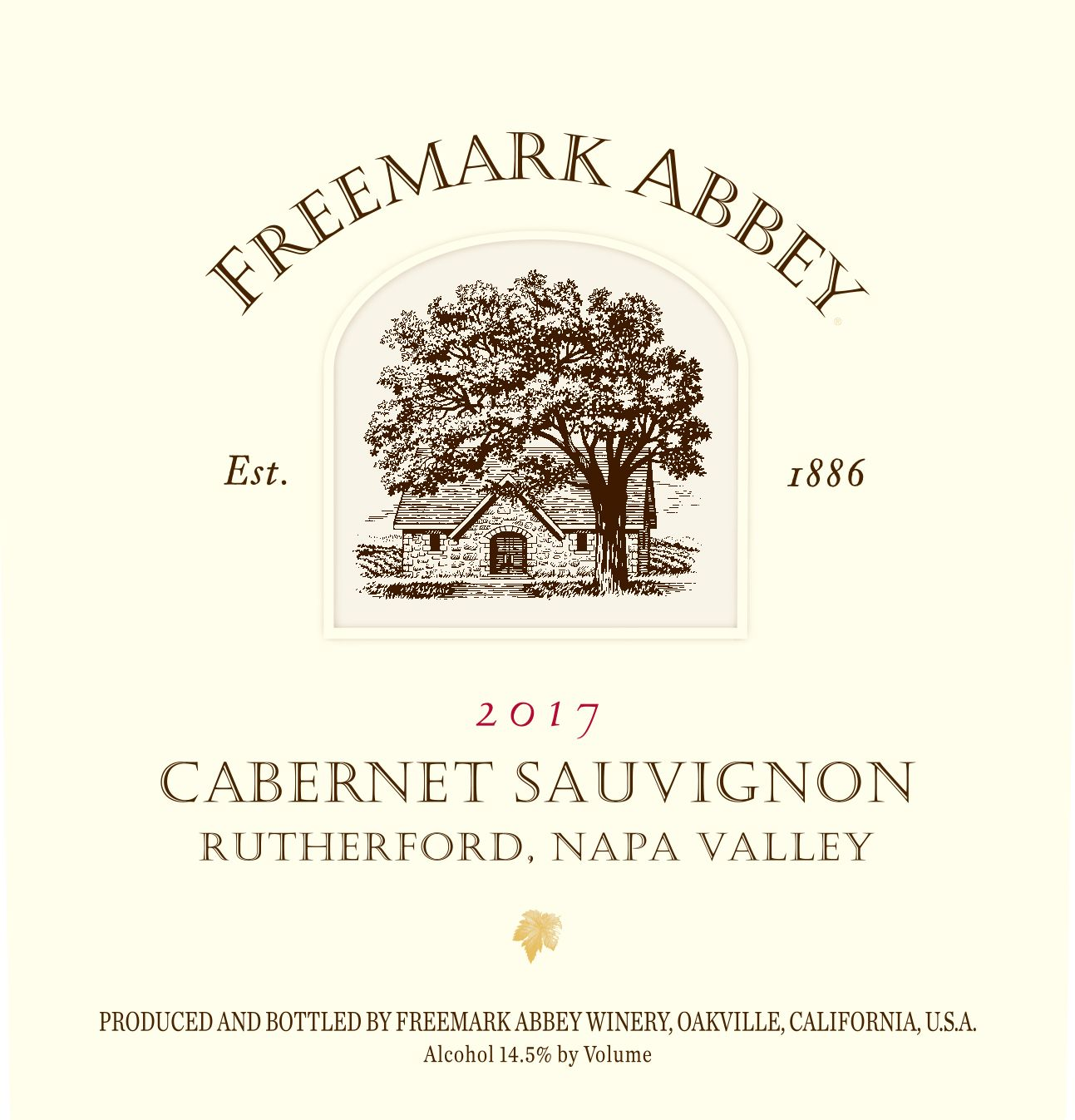 Freemark Abbey Rutherford Cabernet Sauvignon 2017  Front Label
