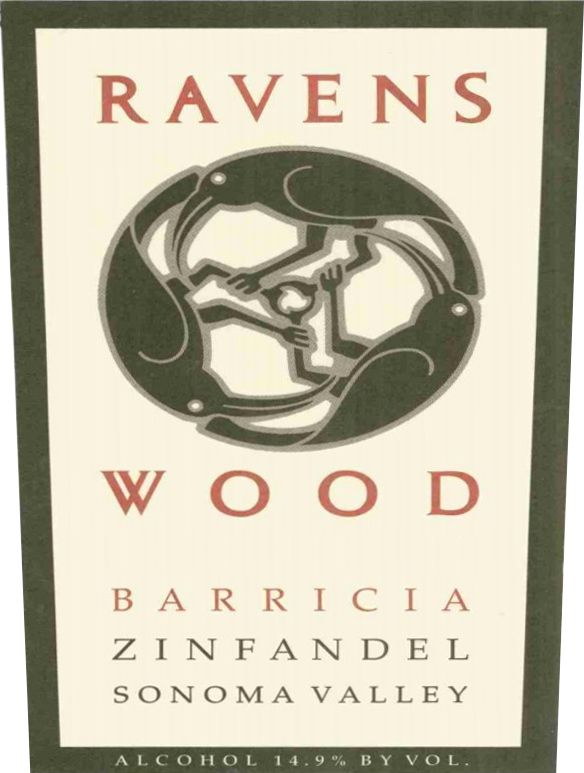 Ravenswood Barricia Vineyard Zinfandel 1997  Front Label