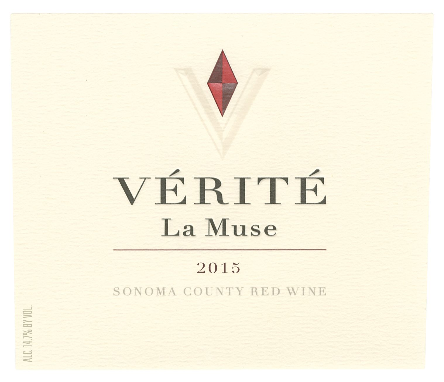 Verite La Muse 2015  Front Label