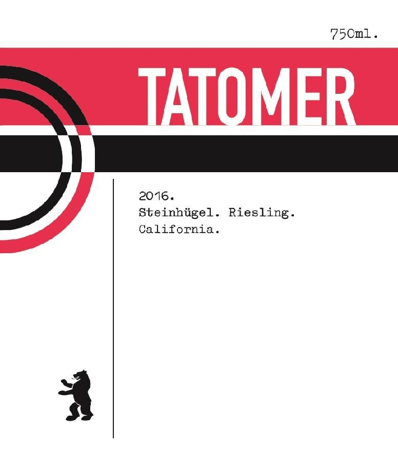 Tatomer Riesling Steinhugel 2016 Front Label