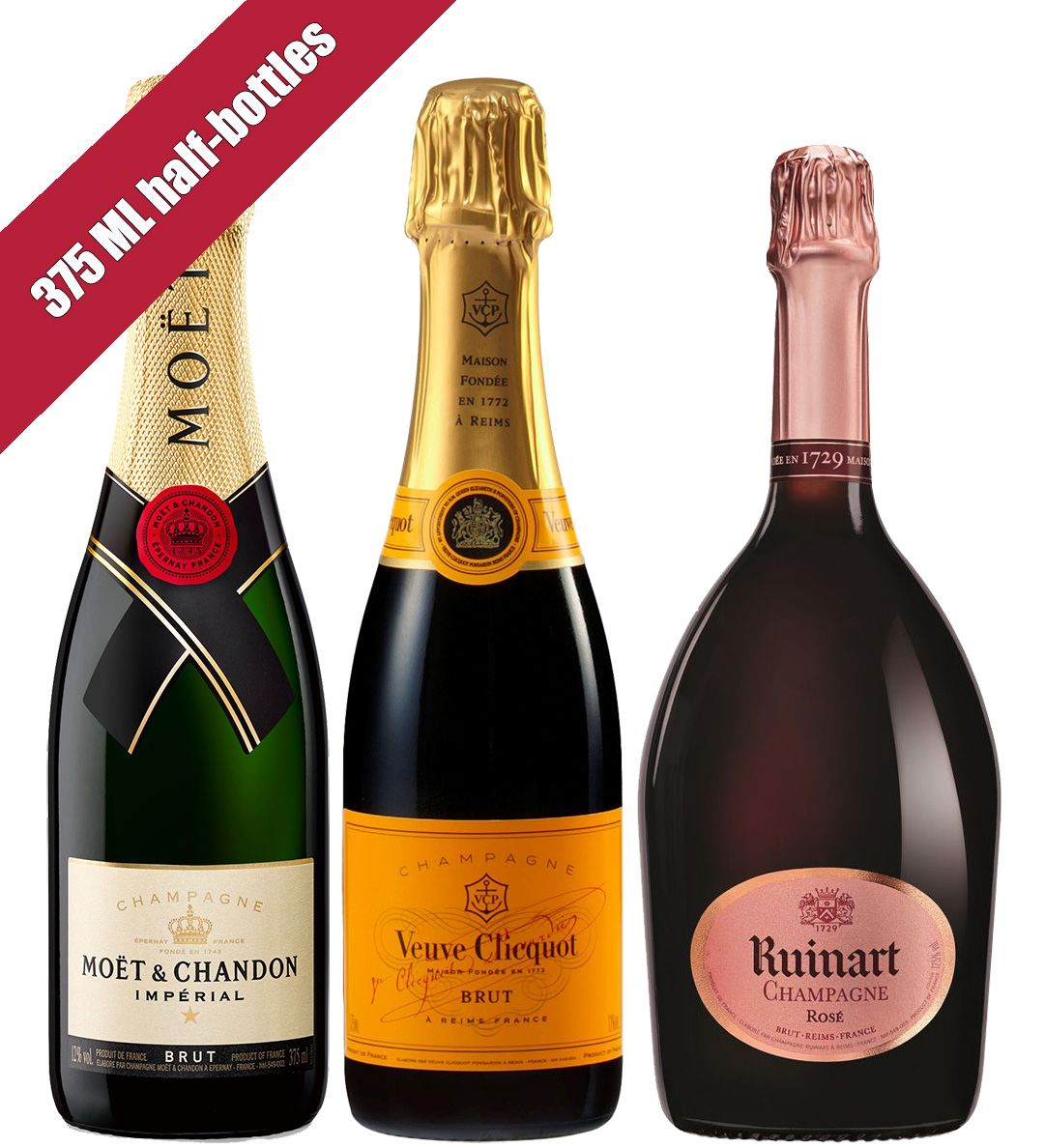 wine.com Champagne Tasting Trio (375ML half-bottles)  Gift Product Image