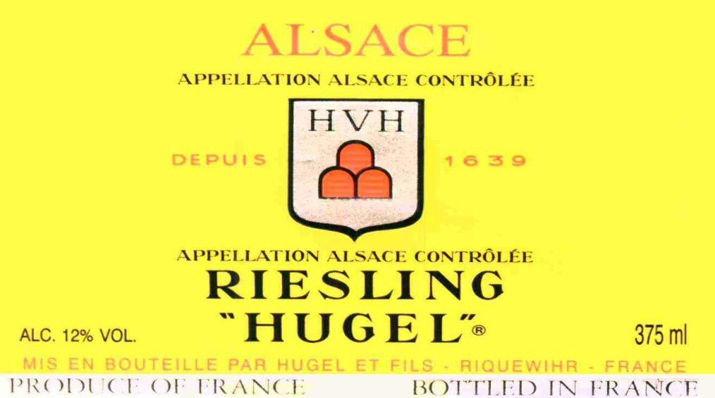 Hugel Classic Riesling (375ML half-bottle) 2016 Front Label