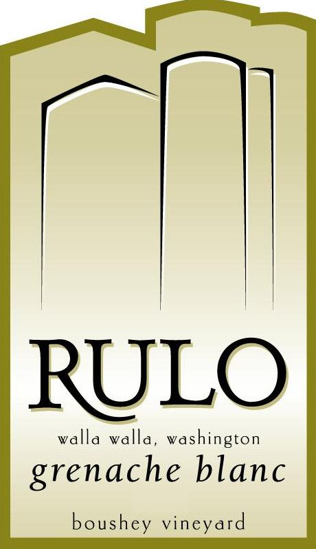 Rulo Winery Grenache Blanc 2013  Front Label