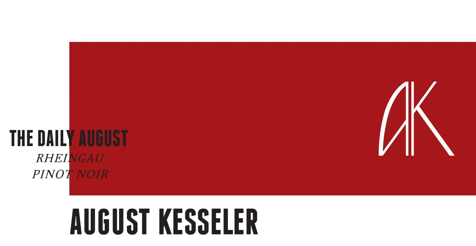 August Kesseler The Daily August Trocken Pinot Noir 2016  Front Label