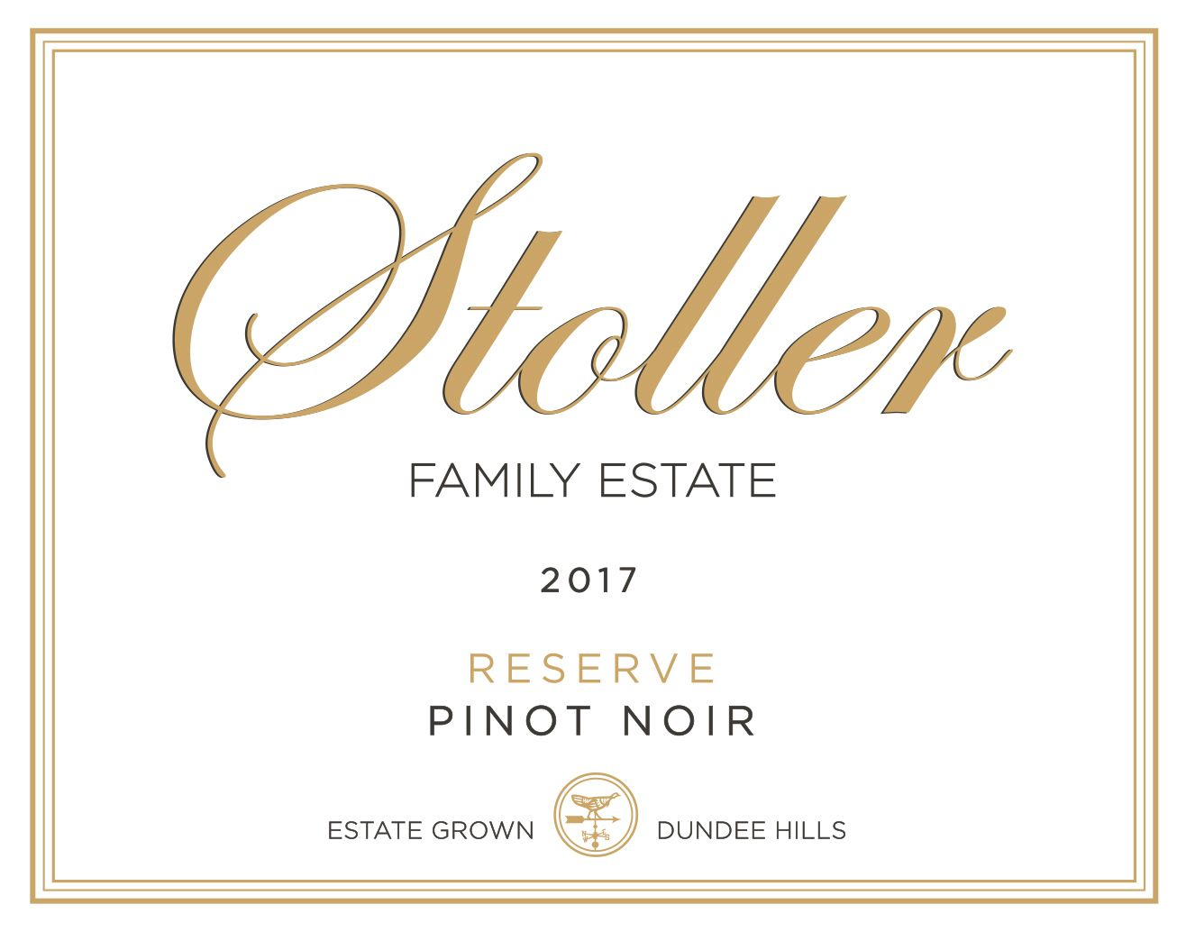 Stoller Reserve Pinot Noir 2017  Front Label