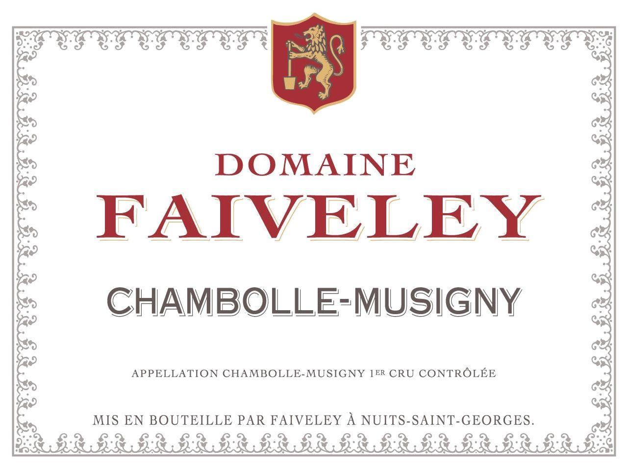 Domaine Faiveley Chambolle-Musigny 2010  Front Label