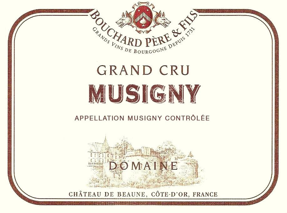 Bouchard Pere & Fils Musigny Grand Cru 1982  Front Label