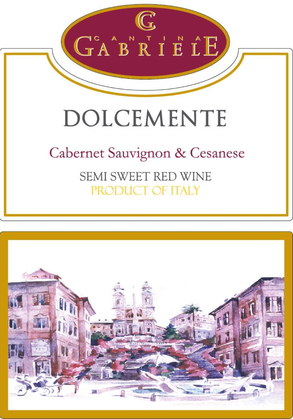 Cantina Gabriele Dolcemente (OU Kosher) 2019  Front Label