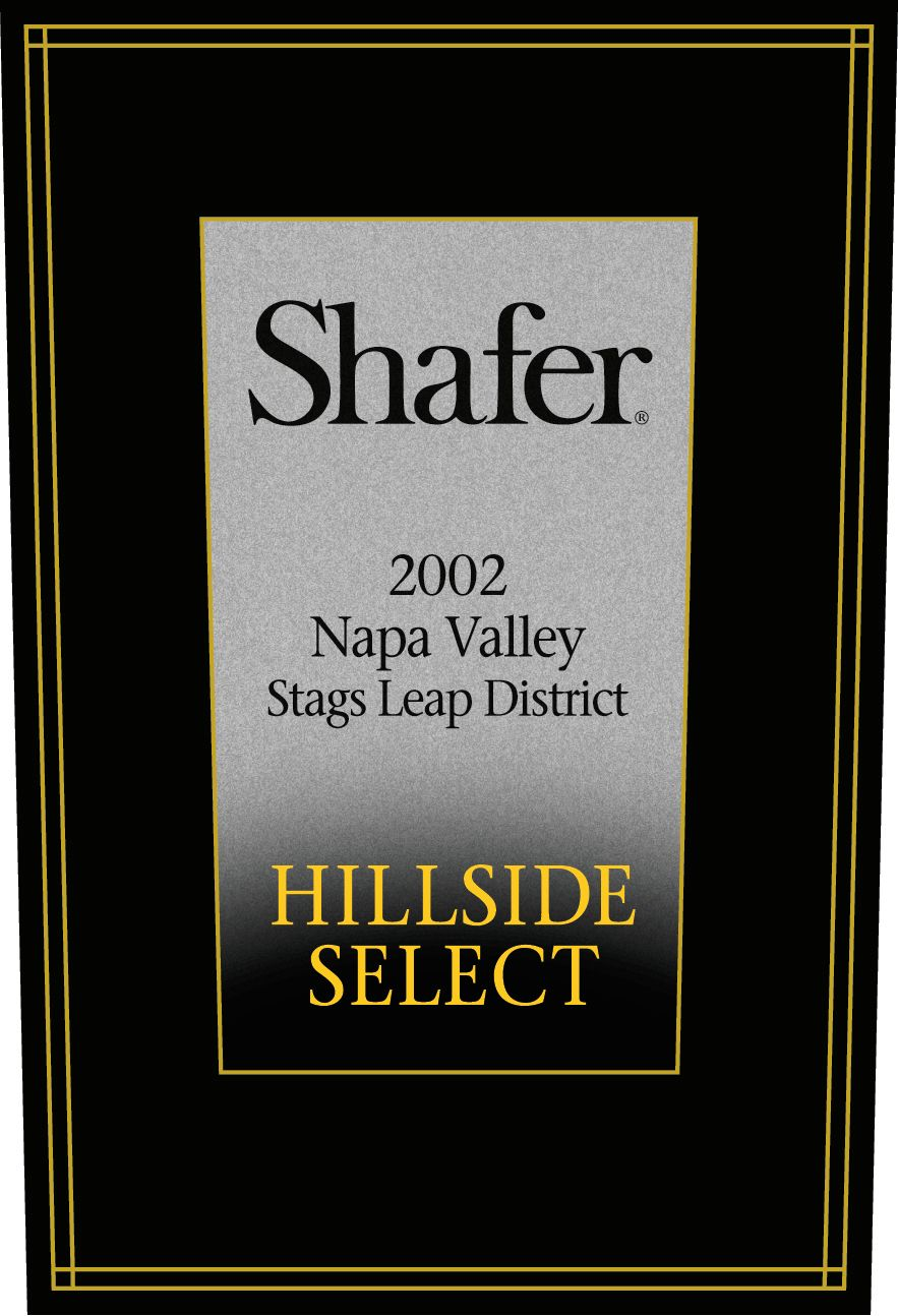 Shafer Hillside Select Cabernet Sauvignon 2002  Front Label