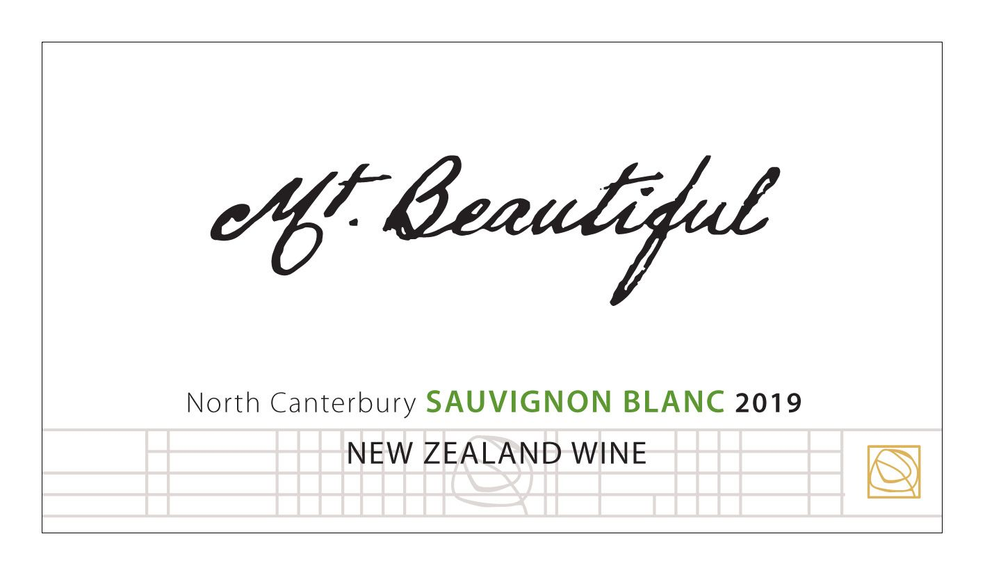 Mt. Beautiful Sauvignon Blanc 2019  Front Label