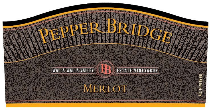 Pepper Bridge Winery Merlot 2014 Front Label