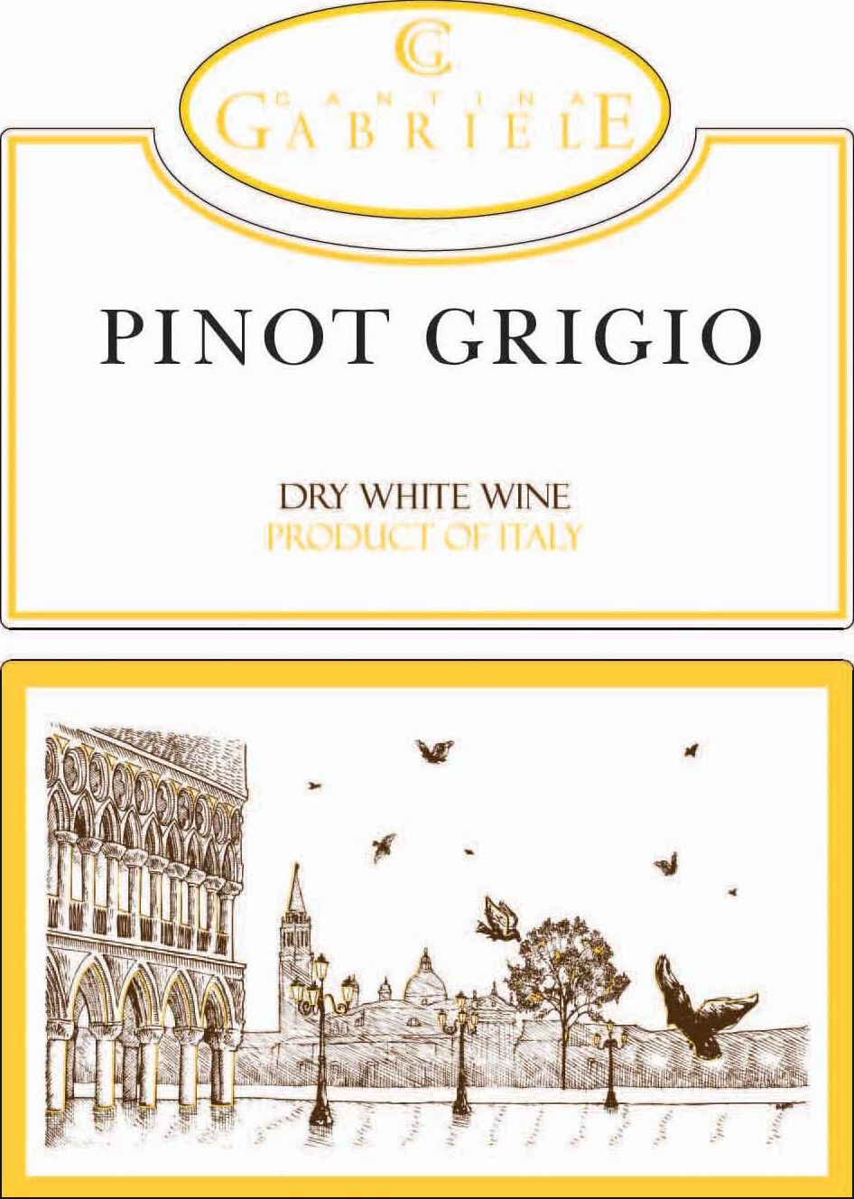 Cantina Gabriele Pinot Grigio (OU Kosher) 2018 Front Label