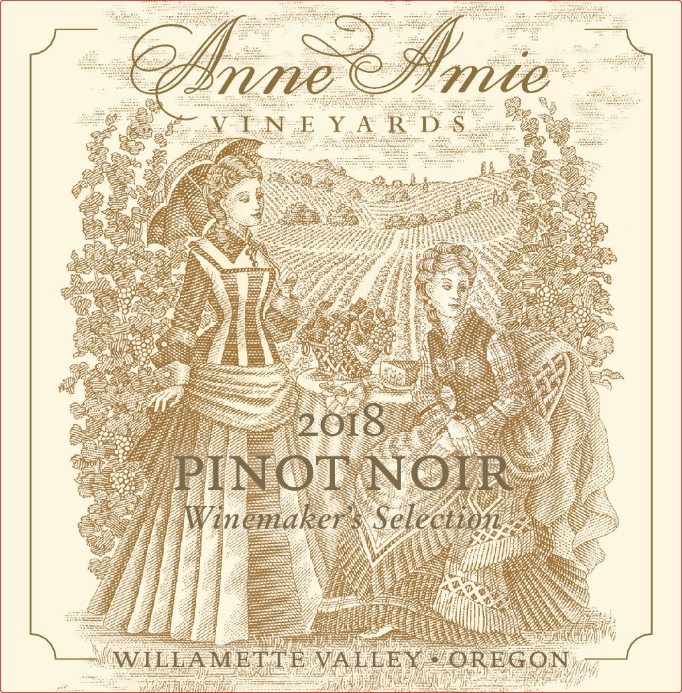 Anne Amie Winemaker's Selection Pinot Noir 2018  Front Label