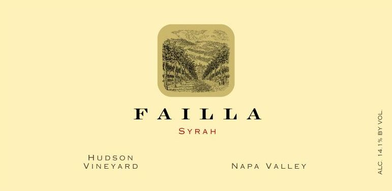 Failla Hudson Vineyard Syrah 2019  Front Label