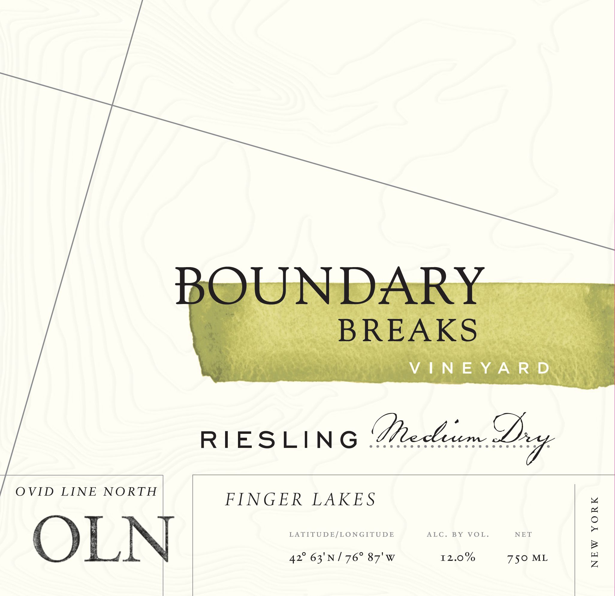 Boundary Breaks Ovid Line North Riesling 2017  Front Label