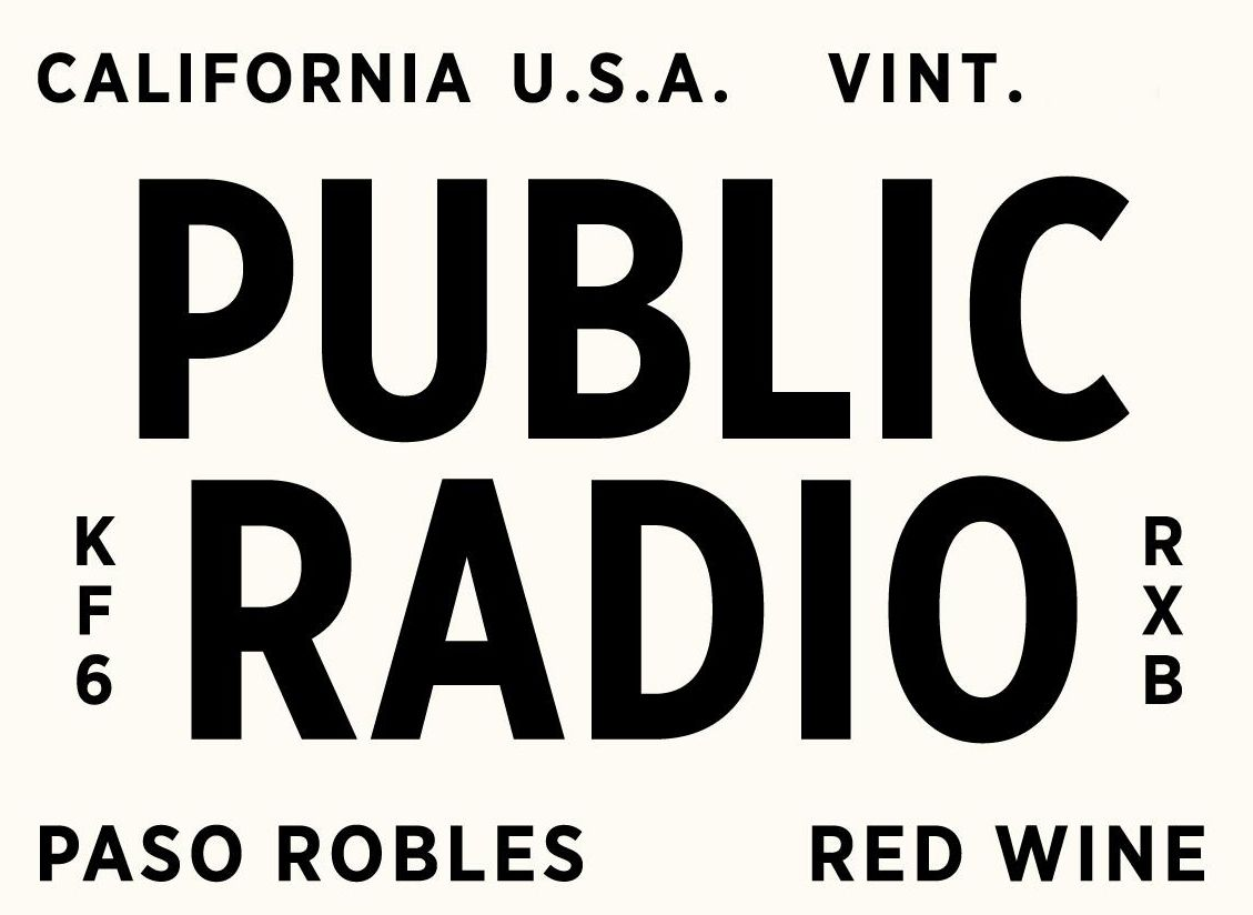 Grounded Wine Co. Public Radio Paso Robles Red 2017  Front Label