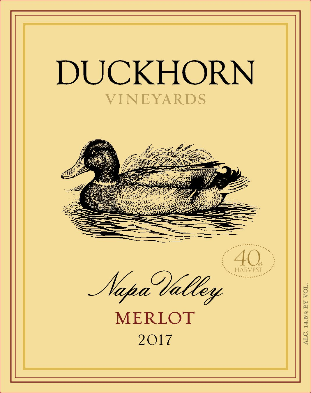 Duckhorn Napa Valley Merlot 2017  Front Label