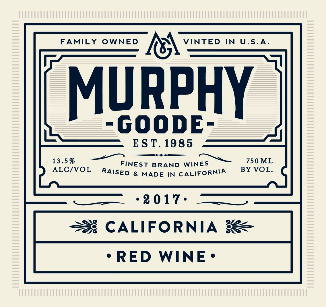Murphy-Goode Red Wine 2017  Front Label