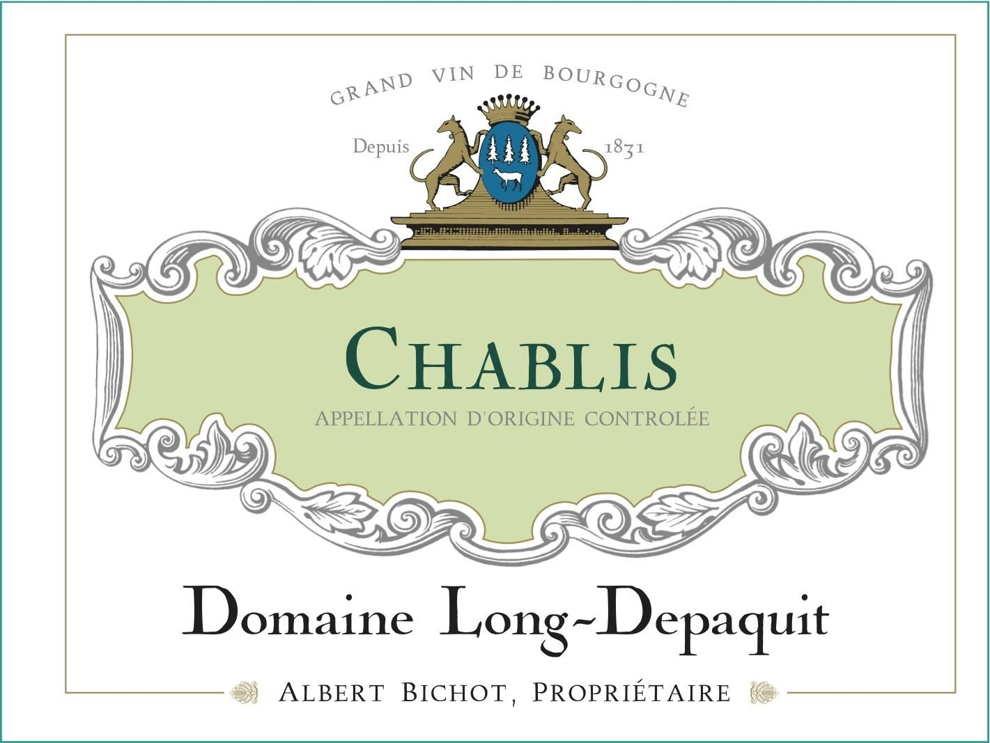 Albert Bichot Chablis Domaine Long Depaquit 2018  Front Label