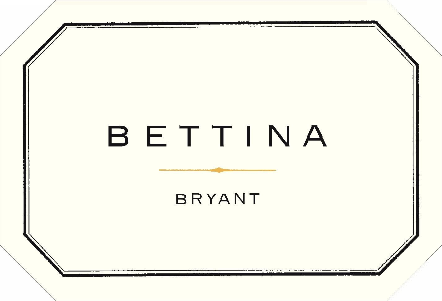 Bryant Family Bettina Proprietary Red 2015 Front Label