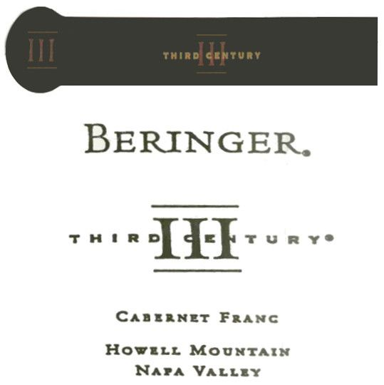 Beringer Howell Mountain Third Century Cabernet Franc 2001 Front Label
