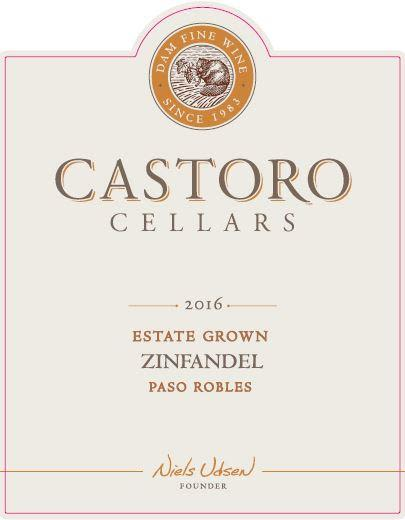 Castoro Cellars Zinfandel 2016  Front Label