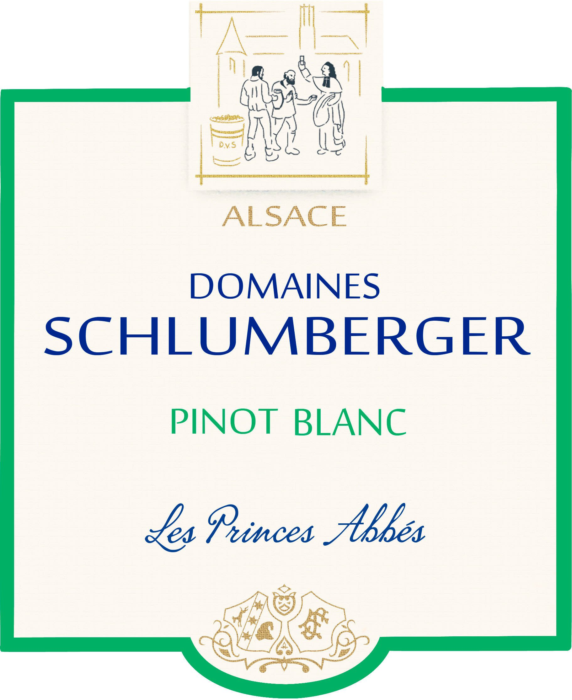 Domaines Schlumberger Les Princes Abbes Pinot Blanc 2018  Front Label