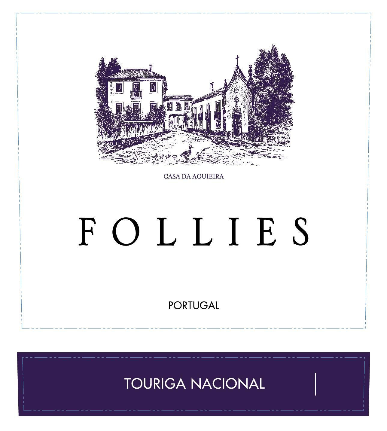 Aveleda Follies Touriga Nacional 2015  Front Label