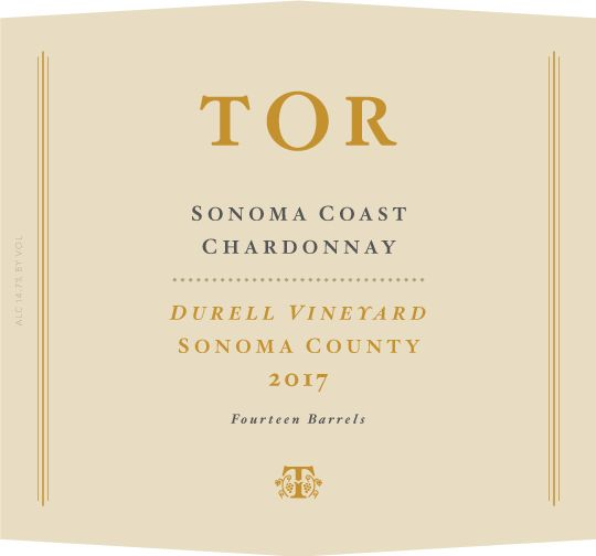 TOR Durell Vineyard Chardonnay 2017 Front Label