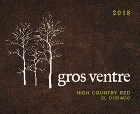 Gros Ventre Cellars High Country Red 2018  Front Label
