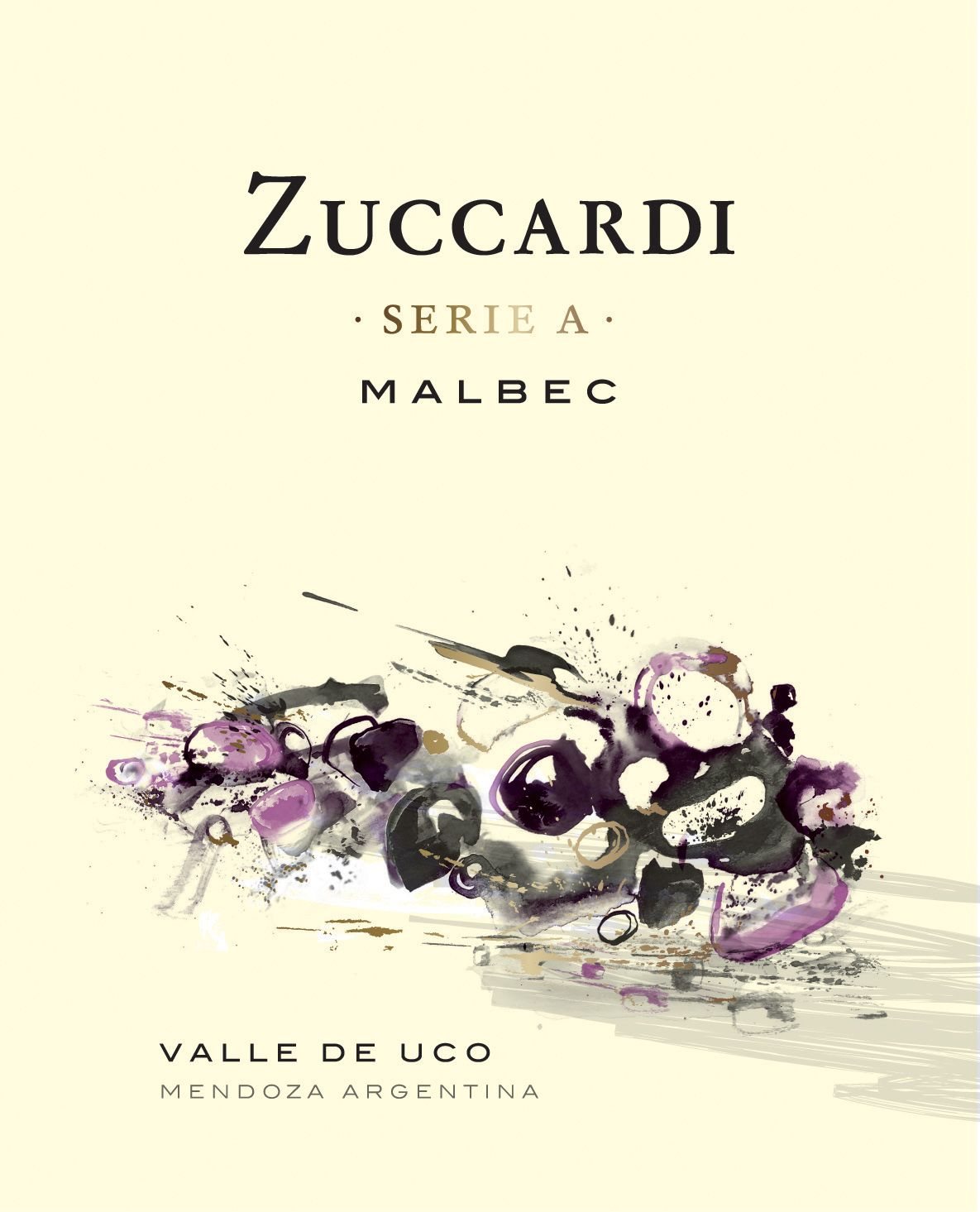 Zuccardi Serie A Malbec 2019  Front Label