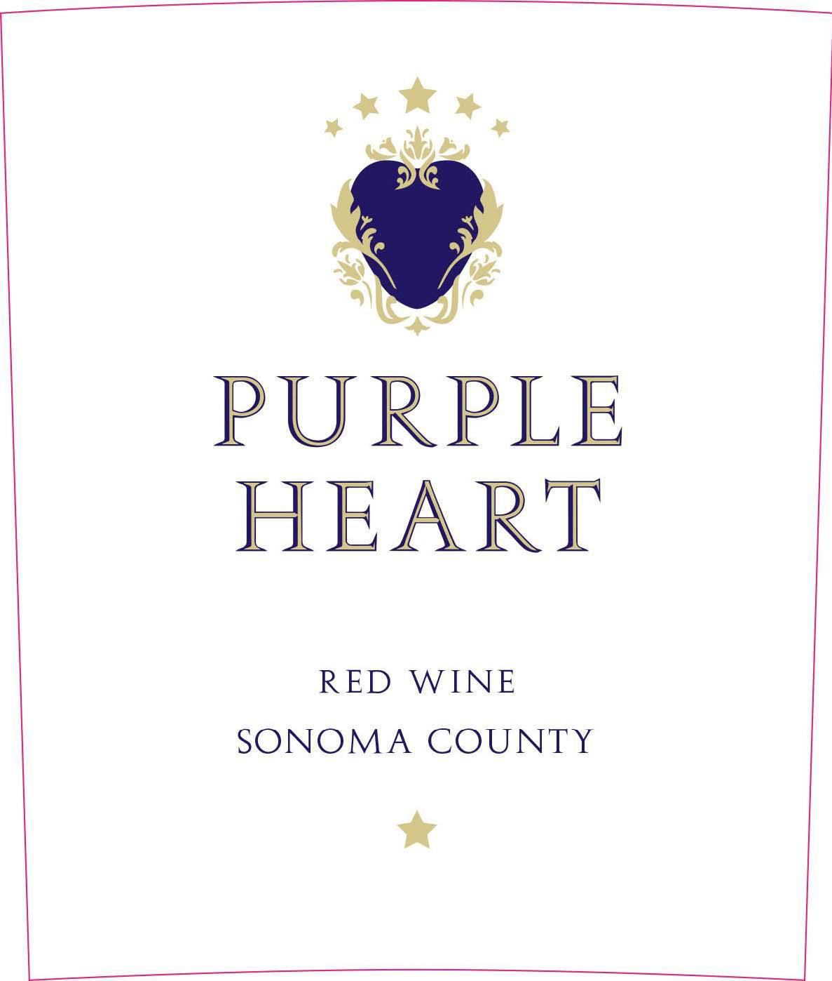 Purple Heart Red Wine 2016  Front Label