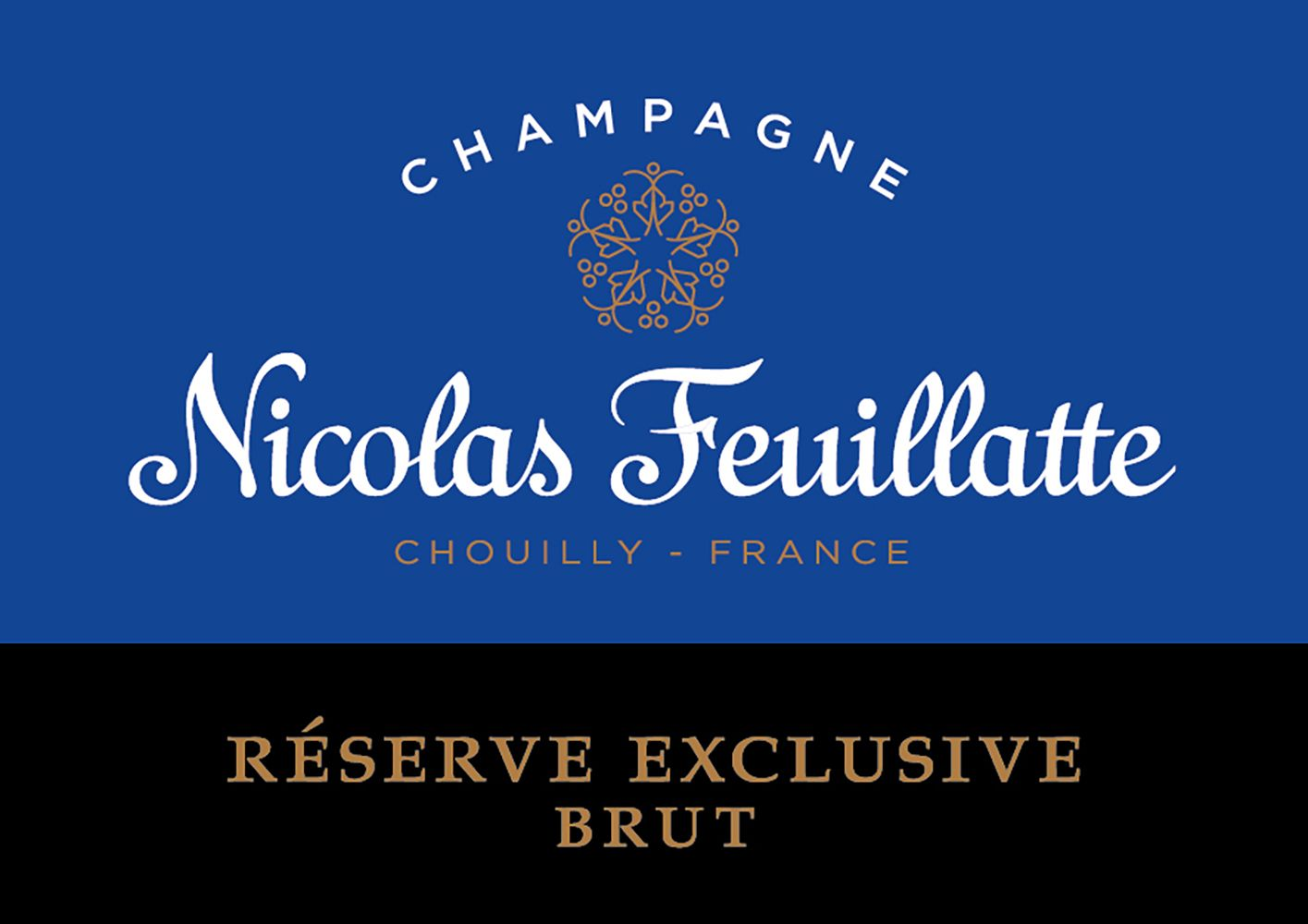 Nicolas Feuillatte Reserve Exclusive Brut (375ML half-bottle)  Front Label