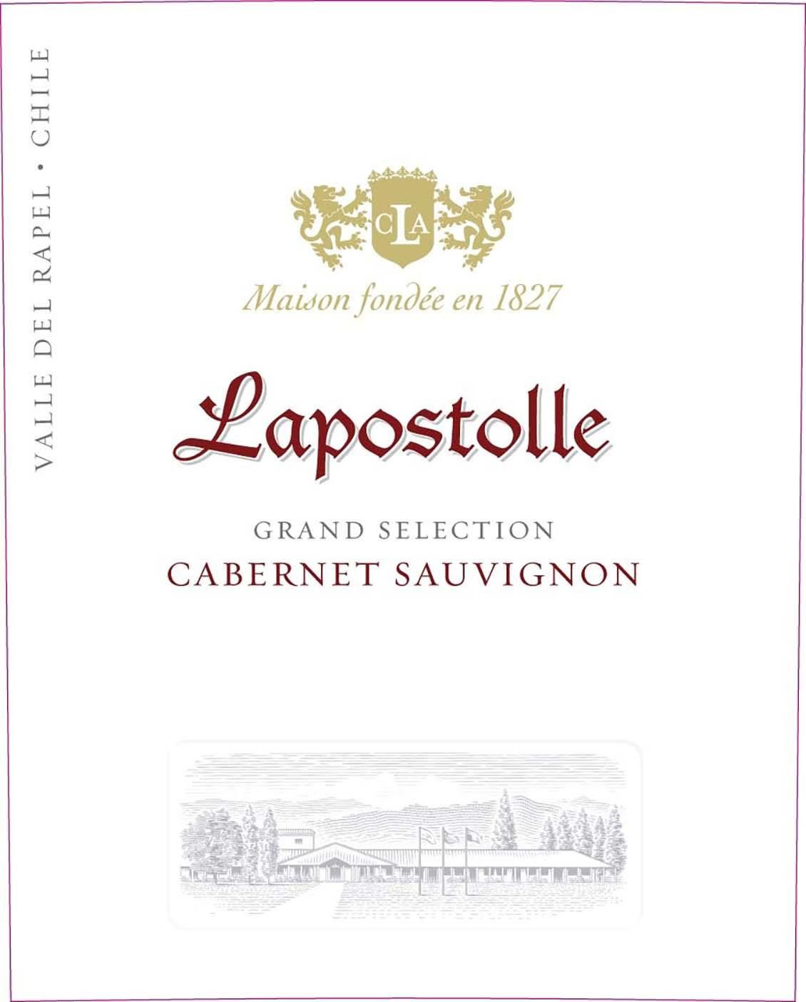 Lapostolle Grand Selection Cabernet Sauvignon 2017 Front Label