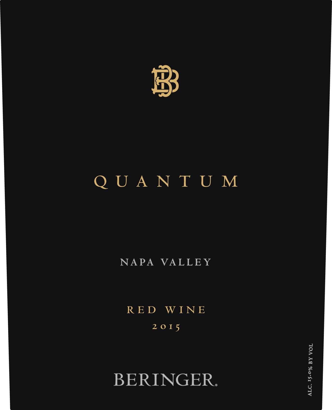 Beringer Quantum Red Blend 2015 Front Label