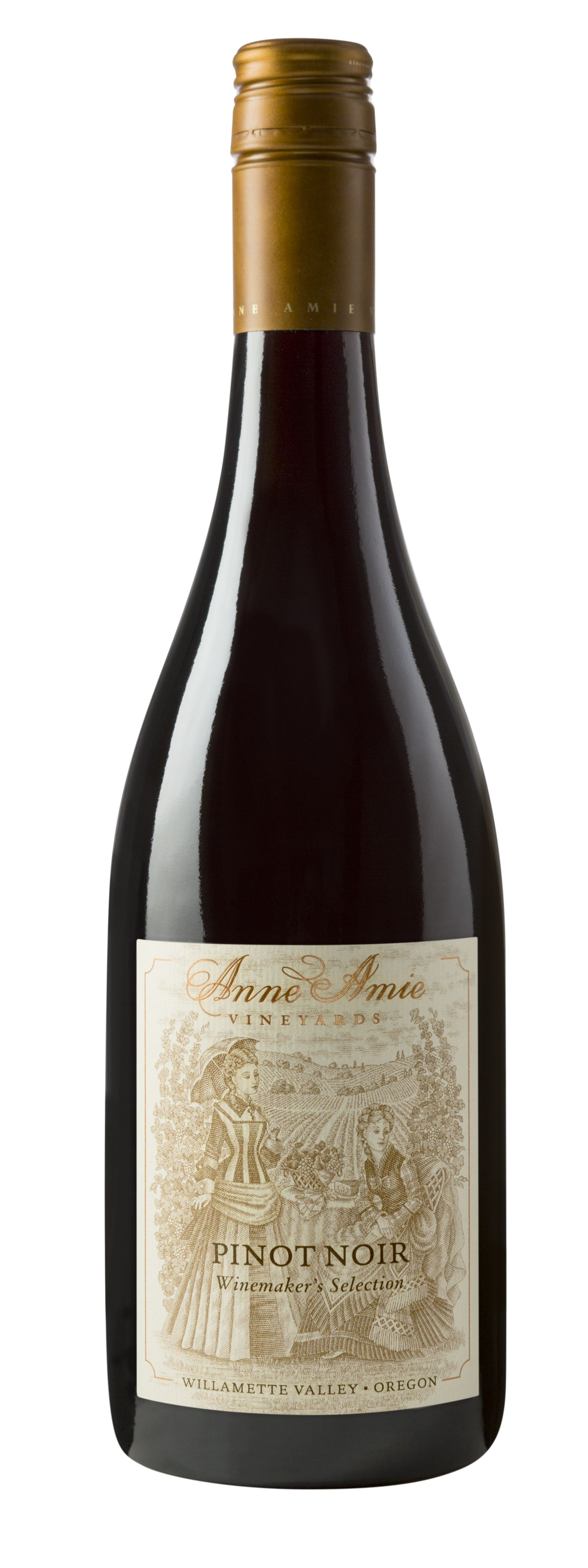 Anne Amie Winemaker's Selection Pinot Noir 2018  Front Bottle Shot
