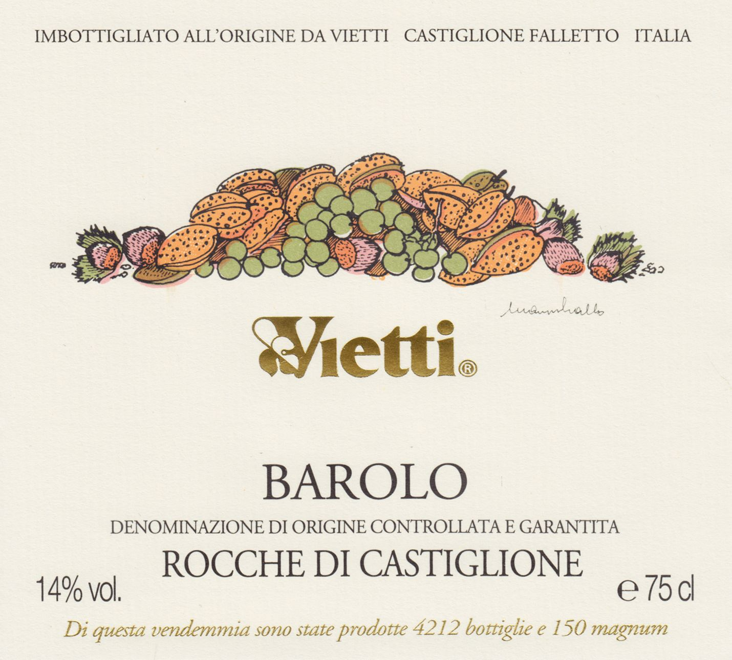 Vietti Barolo Rocche (5 Liter Bottle) 2015  Front Label