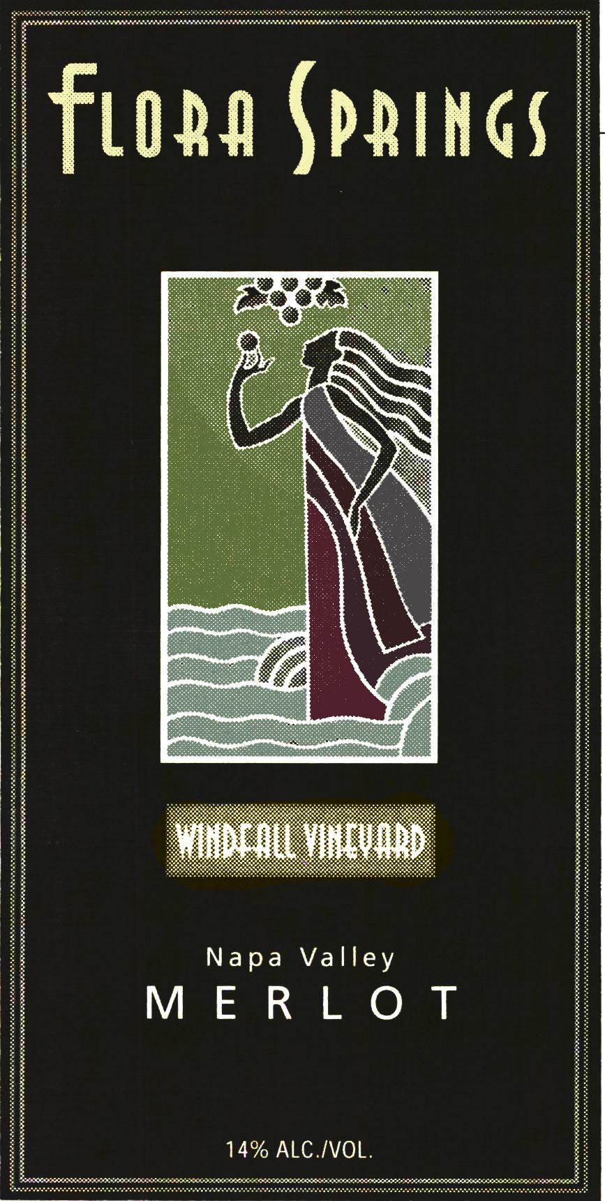 Flora Springs Windfall Vineyard Merlot (1.5 Liter Magnum) 1995 Front Label