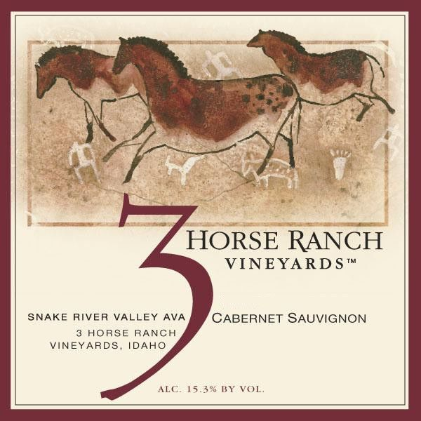 3 Horse Ranch Vineyards Snake River Valley Cabernet Sauvignon 2014 Front Label