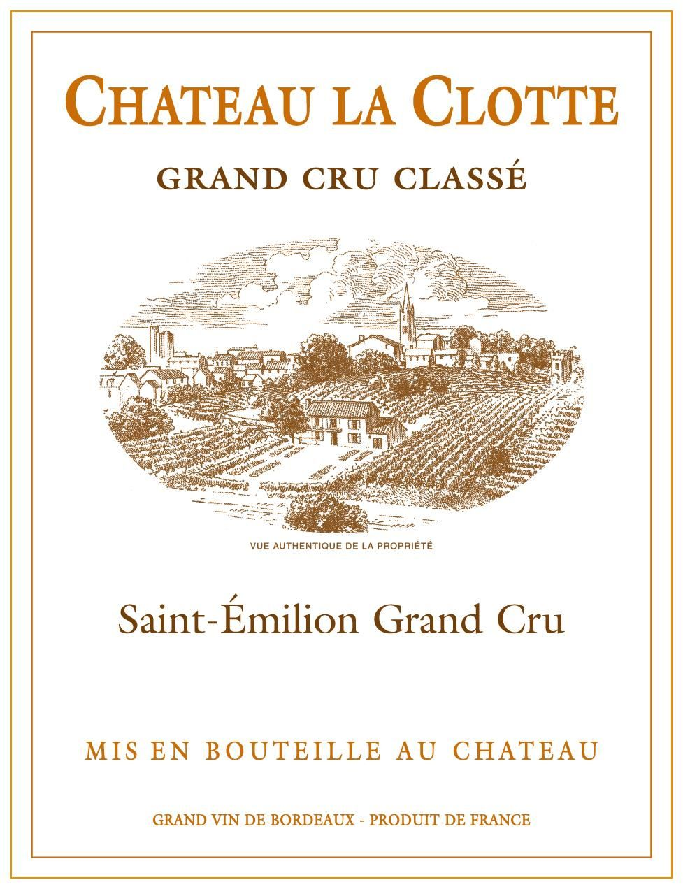 Chateau La Clotte (Futures Pre-Sale) 2018  Front Label