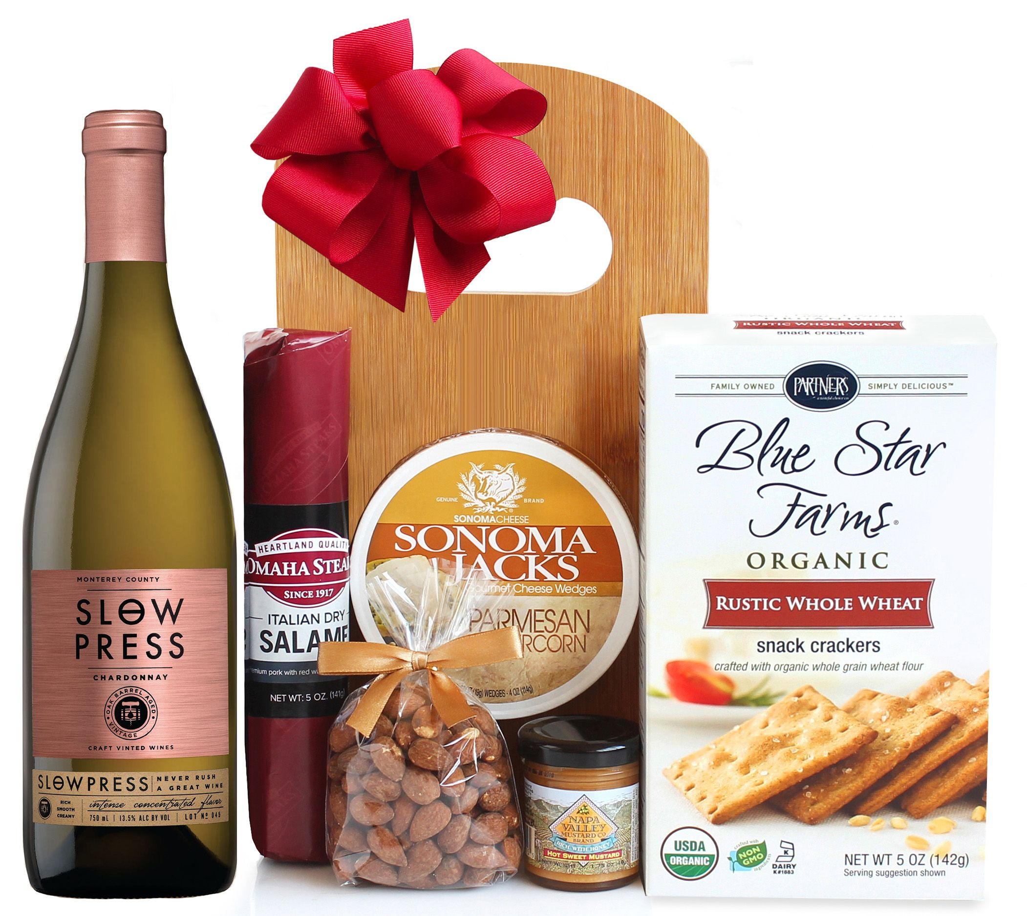 wine.com White Wine & Cheese Board Gift Set  Gift Product Image