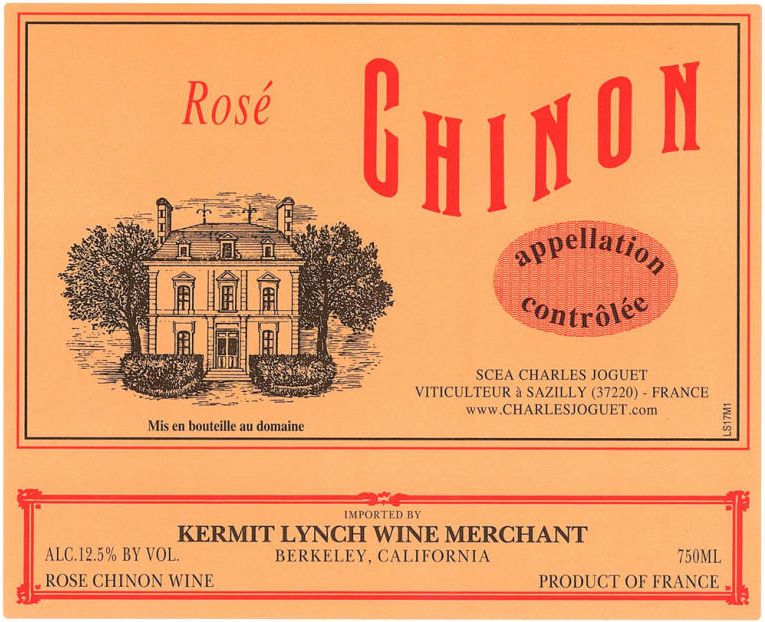 Charles Joguet Chinon Rose 2018 Front Label