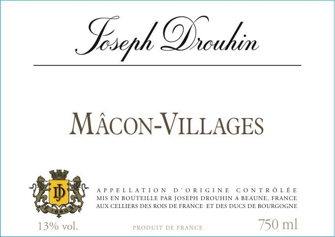 Joseph Drouhin Macon Villages 2017 Front Label