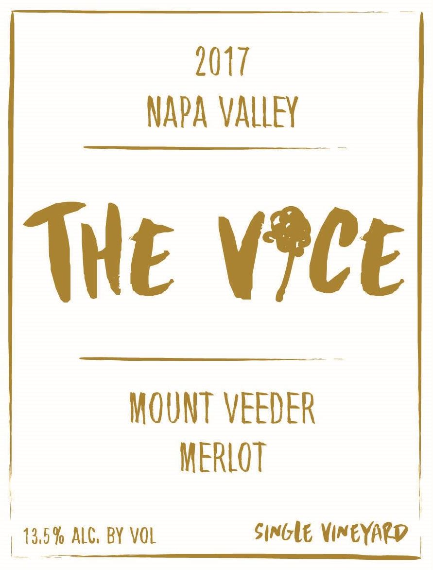The Vice Mount Veeder Merlot 2017 Front Label