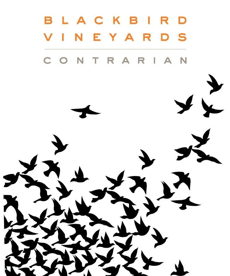 Blackbird Vineyards Contrarian Napa Valley Proprietary Red 2016 Front Label